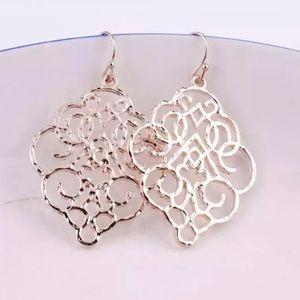 Moroccan Filigree Earrings - Rose Gold